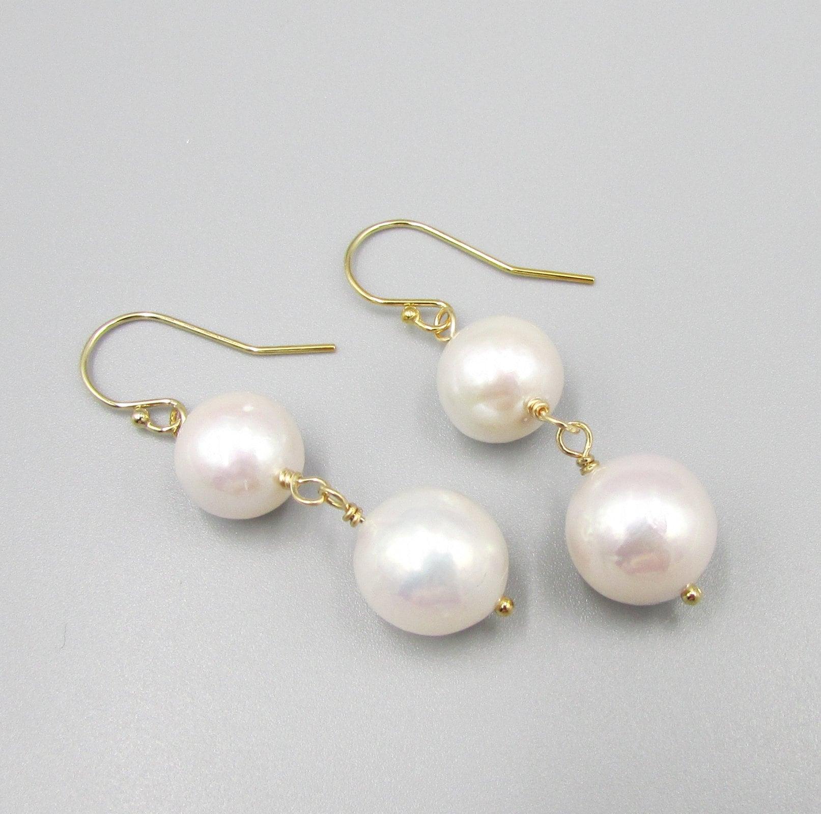 c79cea4bfddc0 White Long Pearl Earrings   Long Pearl Dangles   Classic Pearls ...