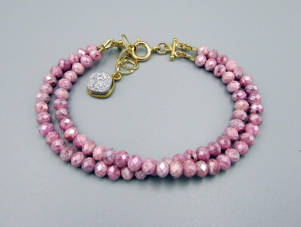 Pink Sapphire Bracelet | Delicate Bracelets