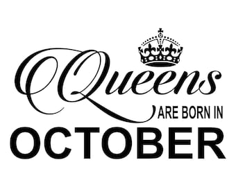 b3ec99ee Queens Are Born In All 12 Months Included - SVG PDF PNG Jpg Dxf Eps -  Welcome Silhouette- Cricut Compatible