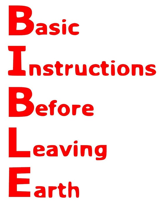 Bible Basic Instructions Before Leaving Earth Svg Pdf Png Etsy