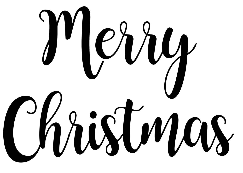 Merry Christmas SVG PDF PNG Jpg File Custom Designs & | Etsy