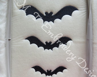 Halloween Bats -  Embroidery Design -3 Sizes