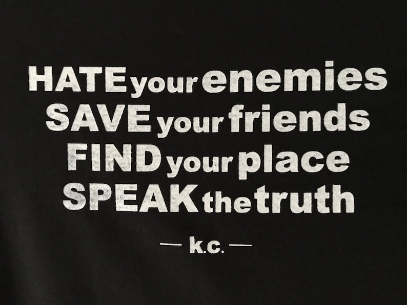 Kurt Cobain Save your friends screenprinted image 0