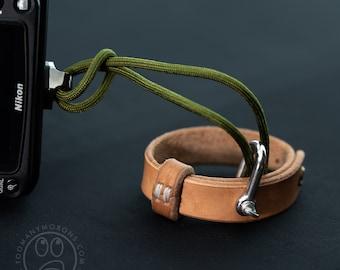 Leather Camera Wrist Strap Bracelet