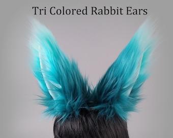 Rabbit Ears - Choose Your Color - Bunny Ears - Faux Fur Animal Ears