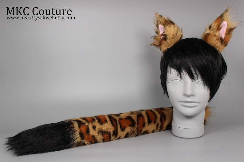 01bddd8077c0 Leopard Cat Costume Leopard Costume Leopard Ears and Tail   Etsy
