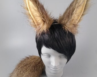 Brown Bunny Ears and Tail, Rabbit Ears and Tail