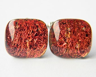 Handcrafted Genuine Dichroic Glass Cufflinks