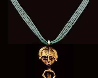 Mali Fertility Pendant & Turquoise