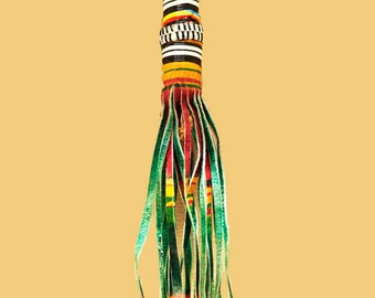 Turkish Goat Leather Tassel and African Beads