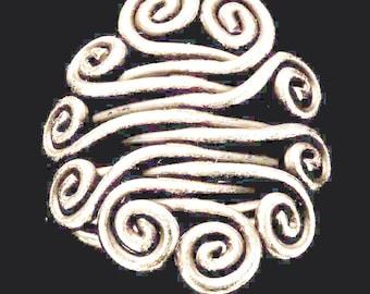Vintage Handmade Life Spirals Ring