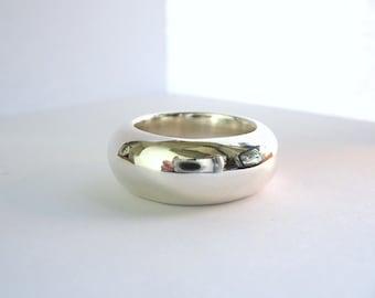 Super Big Silver Band Ring