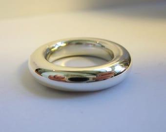 Super Big Round Silver Ring