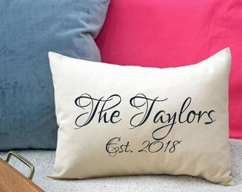 Personalized pillow, 2nd anniversary, cotton anniversary, Mother's Day gift, name pillow, family gift, valentine gift, anniversary -willard