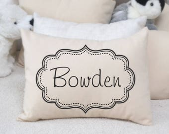 Personalized pillow, baby name pillow, baby boy gift, valentine gift idea,baby gift ,Children's pillow name pillow, newborn gift, dots