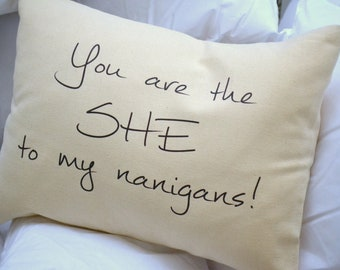Shenanigans Pillow, girls weekend gift, womens pillow, Best friend gift