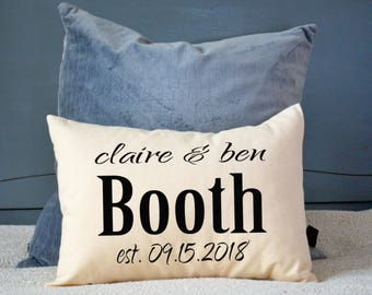 Personalized pillow , wedding gift, couples gift, wedding.  - 2nd anniversary gift - cotton anniversary, Valentine idea -jackson cover-