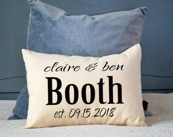 Personalized pillow, wedding pillow, couples pillow, wedding pillow - 2nd anniversary gift - cotton anniversary, Valentine idea -jackson-