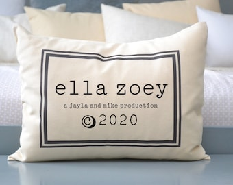 Personalized baby gift, baby pillow, trendy baby, twins gift, baby gift, twin shower gift #