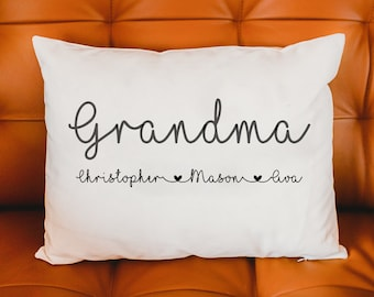 Grandmother gift, Personalized Pillow, Grandparents day, mom gift, Mothers day gift, Mom Gift, Grandmother Gift, Grandparents day