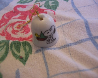 Wee Porcelain Snoopy Bell Ornament