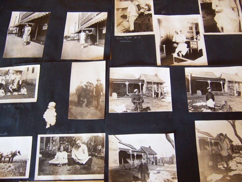 old vintage black and white and sepia photos