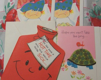 adorable get well assortment cards