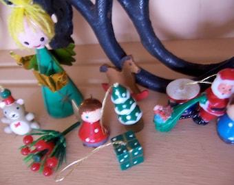 tiny christmas goodie figurines