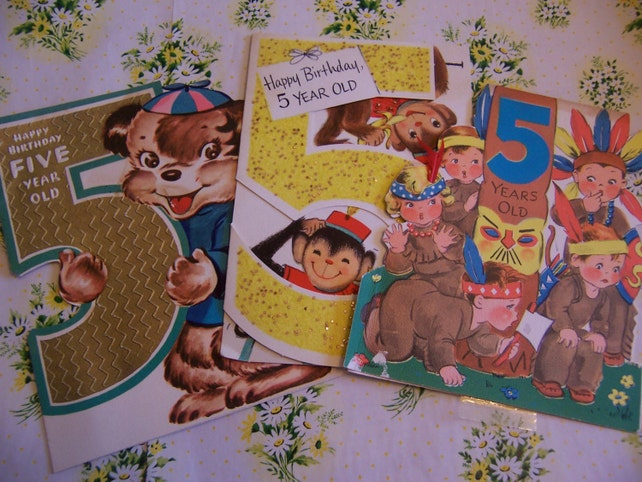 Five Year Old Childrens Birthday Cards