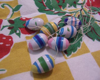 seven tiny wee wooden eggs