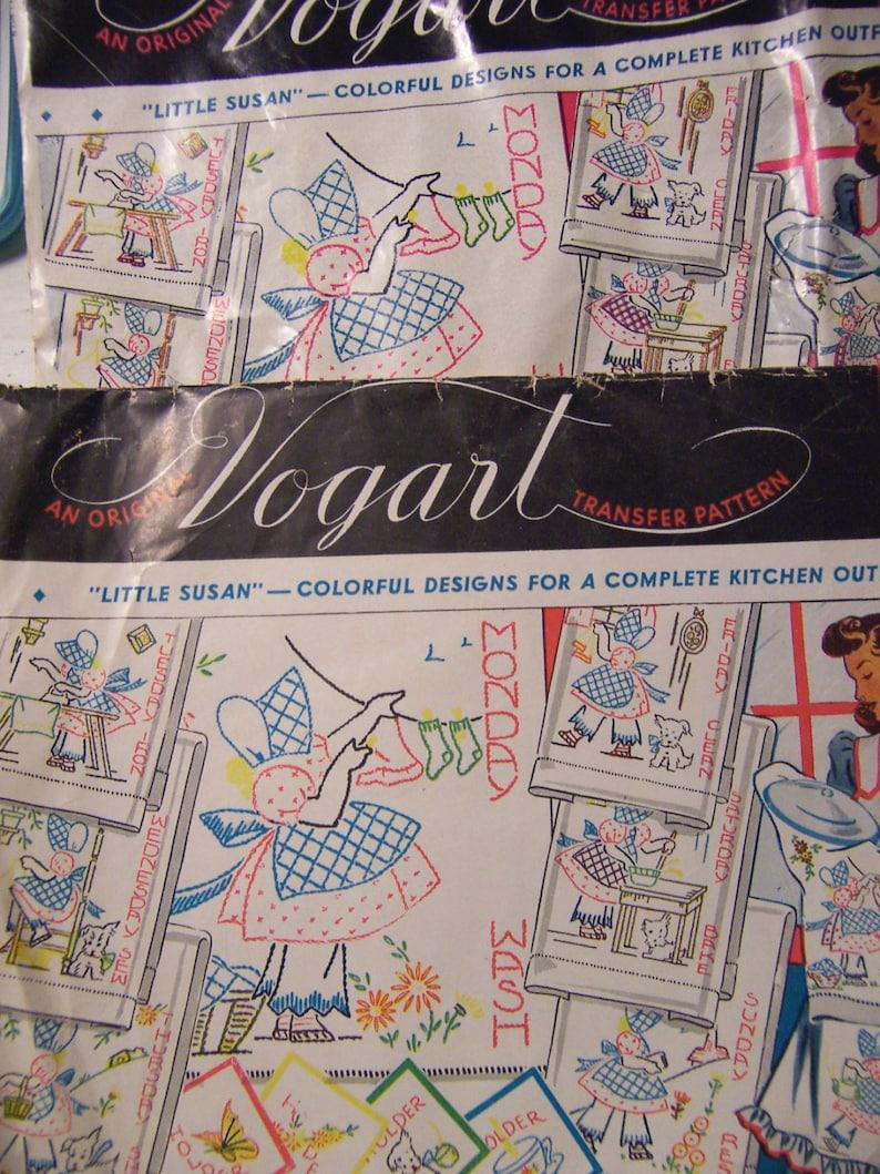 vintage vogart  iron on transfers