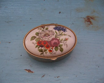 ceramic and tin keepsake box