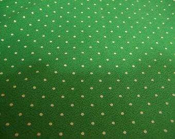 polka dot green  fabric