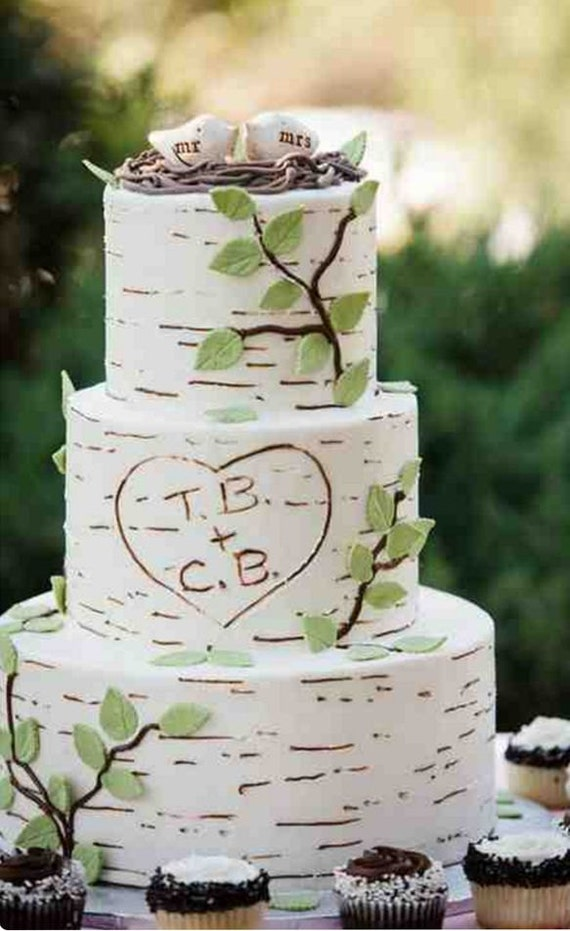 Wedding cake topper birds bird cake topper love birds wedding | Etsy
