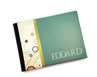 Blue Orange Green Circles Baby Book Eddard