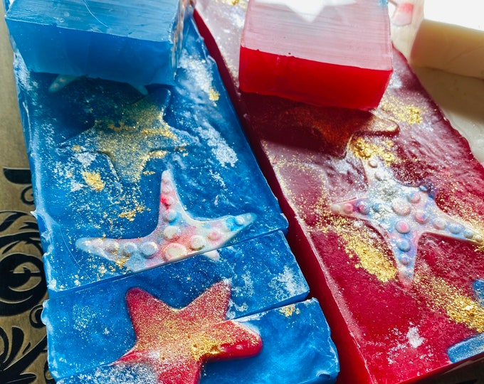 4th of July soap bar