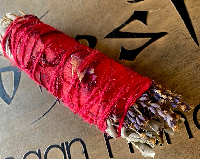 Sage Cedar Flower Botanical Smudge Bundle
