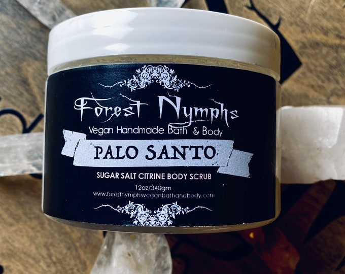 Palo Santo and Citrine Body Scrub 12oz