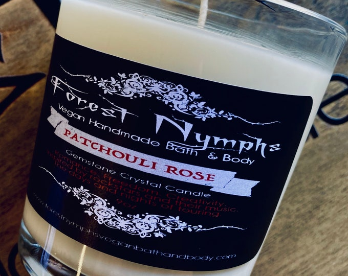 Patchouli Rose Gemstone Candle