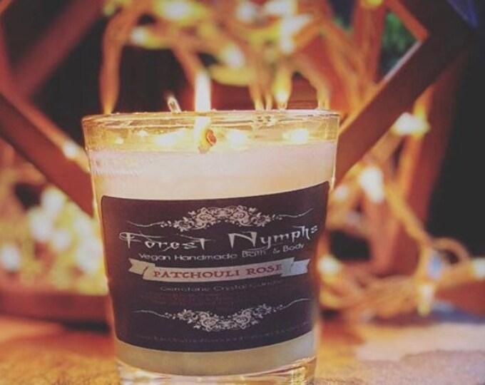 Patchouli Rose Gemstone Candle