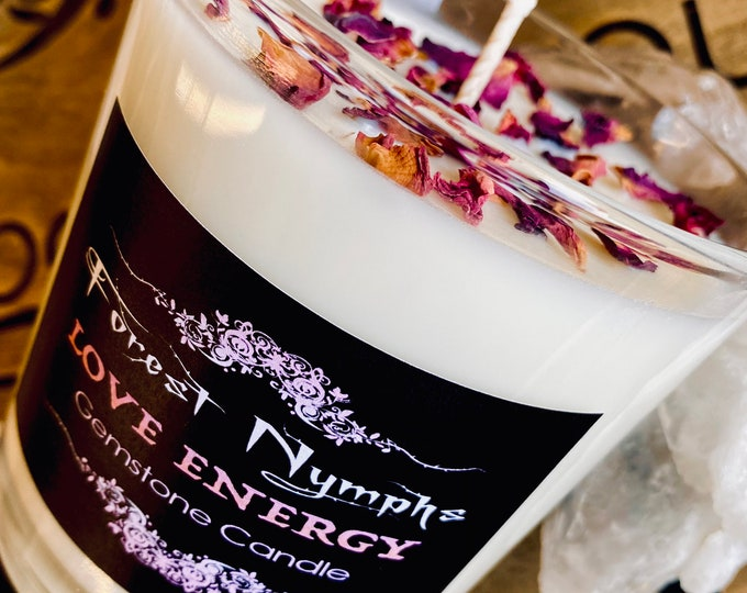 Love Energy Gemstone Candle
