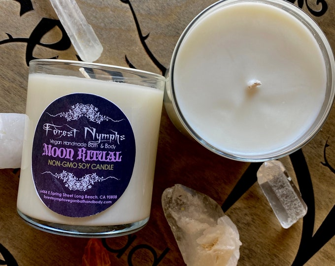 Moon Ritual Gem Soy Candle 8oz