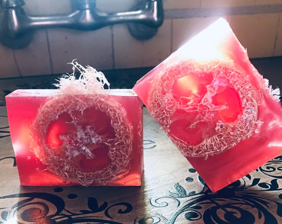 Flowers Floral  Exfoliating Soap Bar