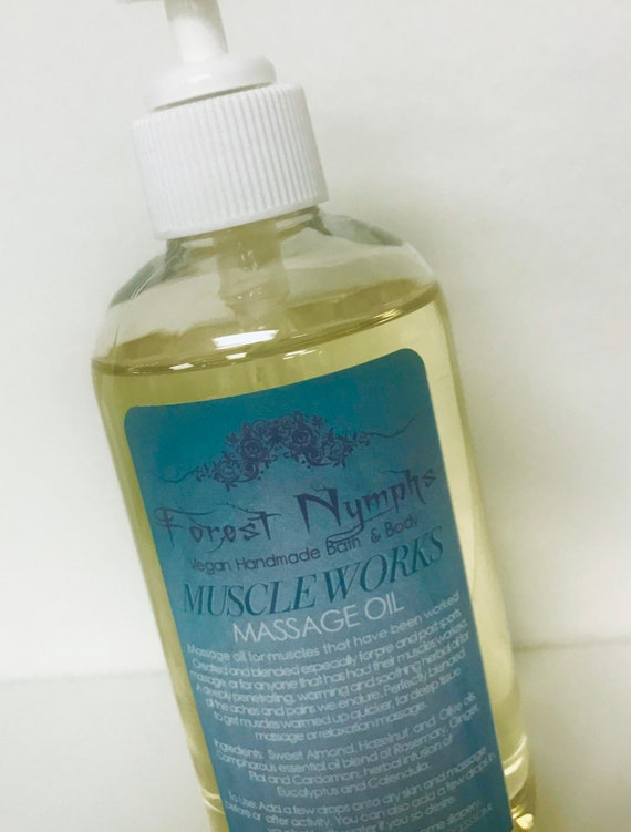 MUSCLE WORKS  Vegan Massage Oil