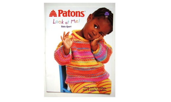 Look At Me Knitting Patterns Book Children Sizes 6 Months To Etsy