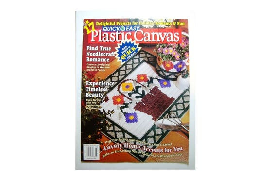 60 Patterns Quick Easy Plastic Canvas Magazine No60 Feb Mar Etsy Impressive Easy Plastic Canvas Patterns