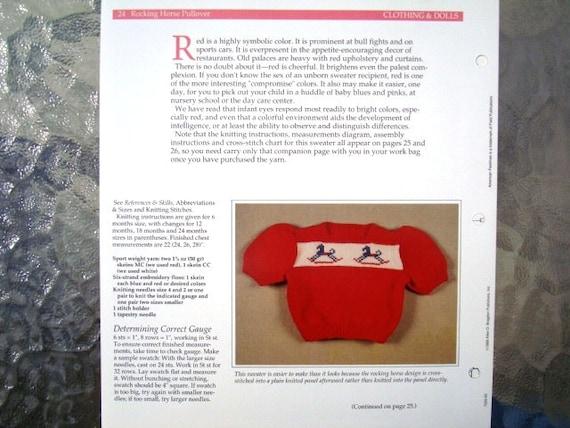 Schaukelpferd Pullover stricken Muster Pullover / Cardigan | Etsy