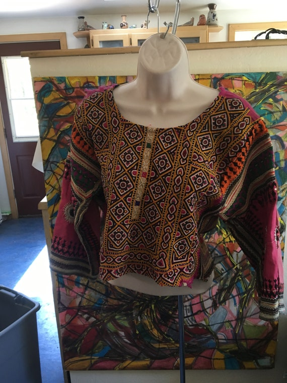 Funky Embroidered Crop Top Sweater