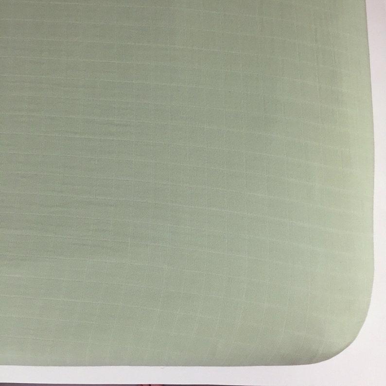 Green Solid Bamboo Crib Sheet