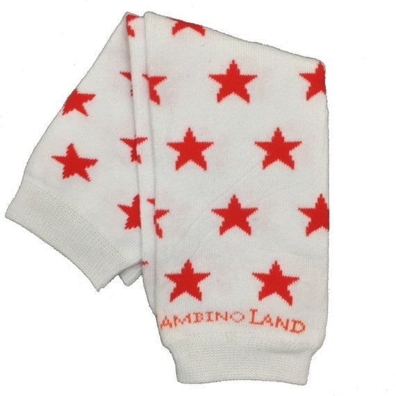 Organic Baby Leg Warmers Teal with Grey Stars